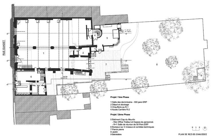 CONSEIL DES VINS DE ST EMILION: Bureaux de style  par 3759 Architecture