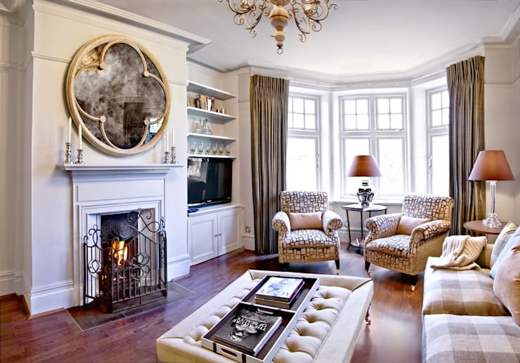 London Apartment - Hampstead:  Living room by Eliska Design Associates Ltd.