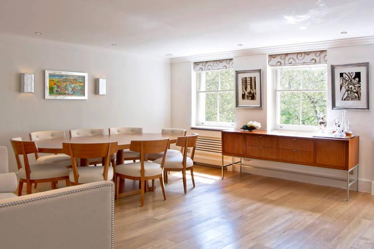 Craven Hill Gardens,  Apartment:  Living room by Eliska Design Associates Ltd.