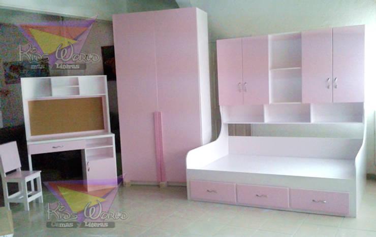 Femenina recamara estilo sillon: Recámaras de estilo moderno por camas y literas infantiles kids world