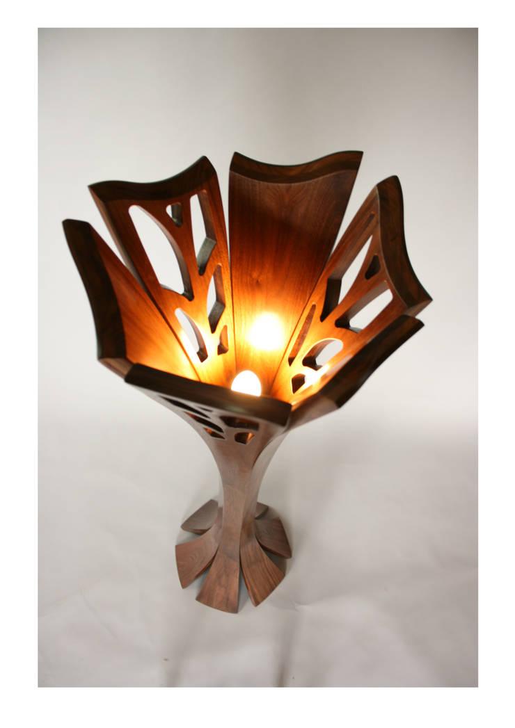 Cooper's Bloom standard lamp:  Study/office by Tom Cooper Fine Furniture