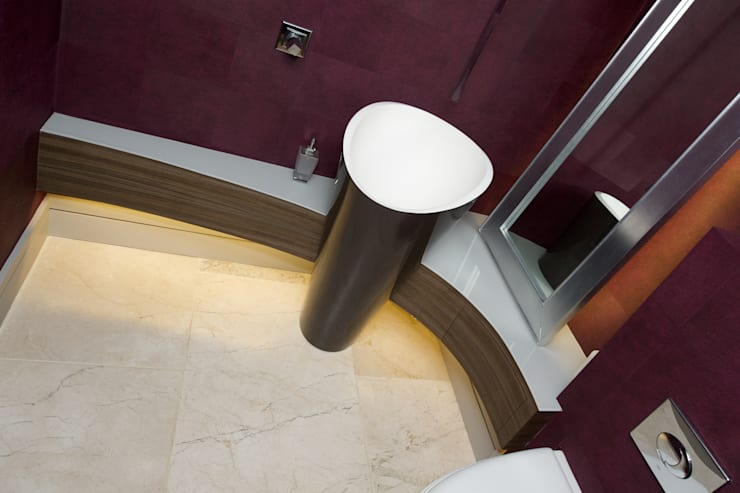 Barn Conversion:  Living room by Yorkshire Design Associates