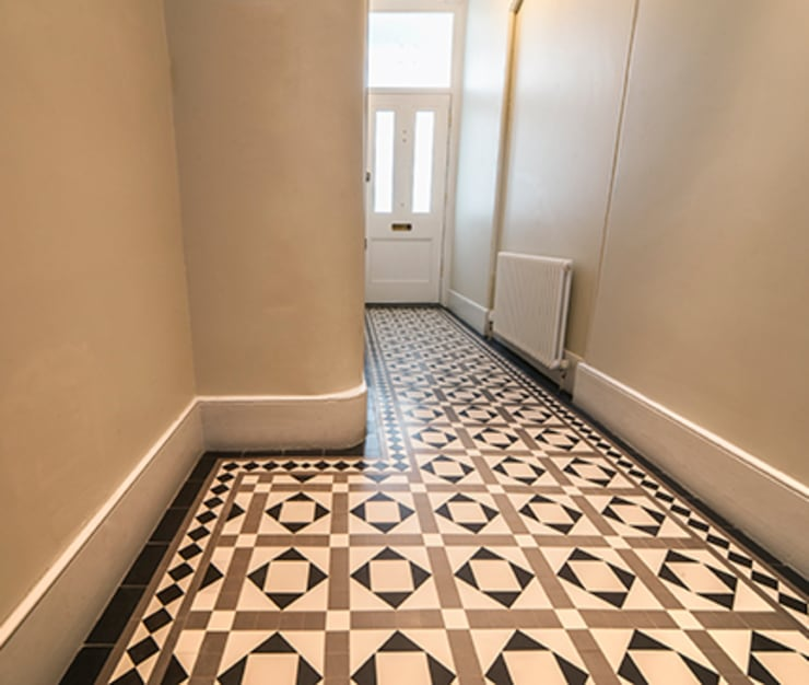 Geometric (Victorian) Tiles:  Walls & flooring by Original Features