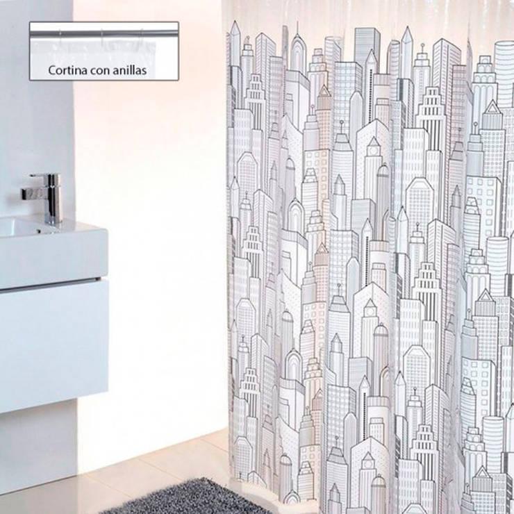 Cortina de ducha Ciudad: Baños de estilo  de www.cortinasdeducha.com