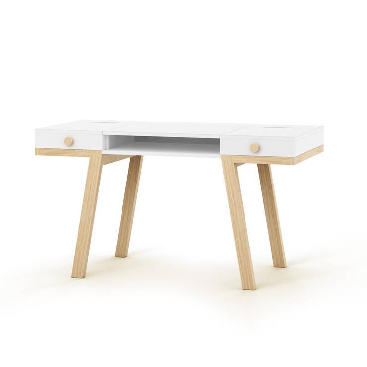 TAO desk: styl , w kategorii Domowe biuro i gabinet zaprojektowany przez Redo Design Studio Radosław Nowakowski,