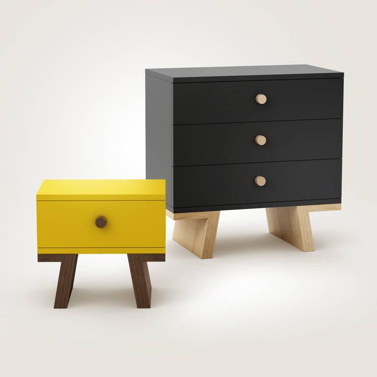 TAO chests: styl , w kategorii Sypialnia zaprojektowany przez Redo Design Studio Radosław Nowakowski,