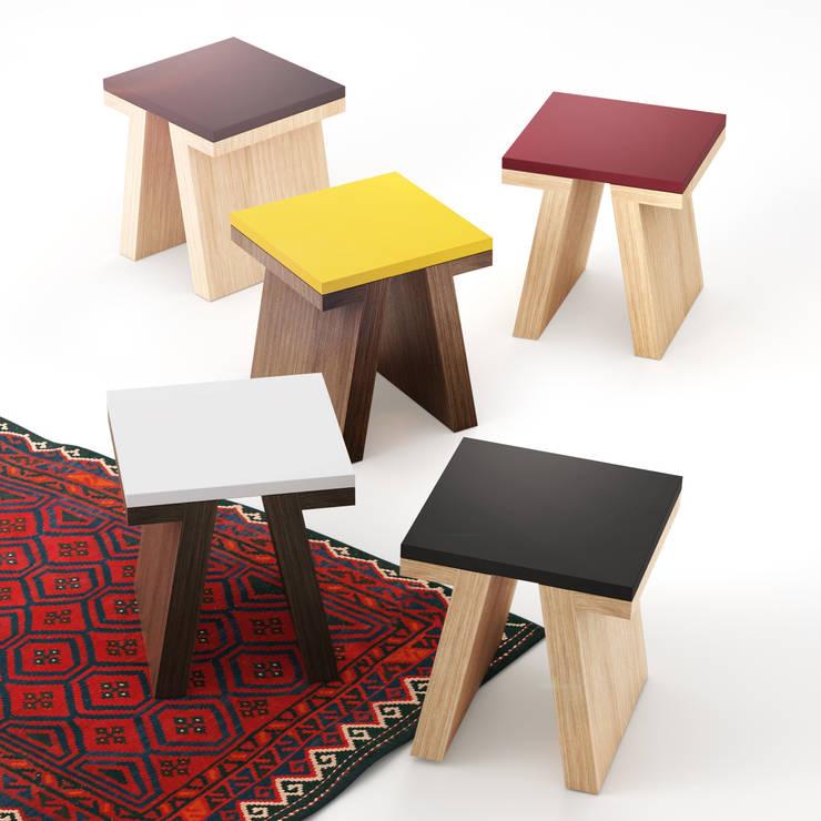 TAO stools: styl , w kategorii Jadalnia zaprojektowany przez Redo Design Studio Radosław Nowakowski,