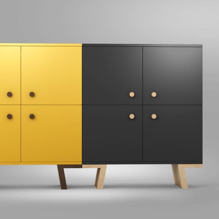 TAO cabinets: styl , w kategorii Salon zaprojektowany przez Redo Design Studio Radosław Nowakowski,