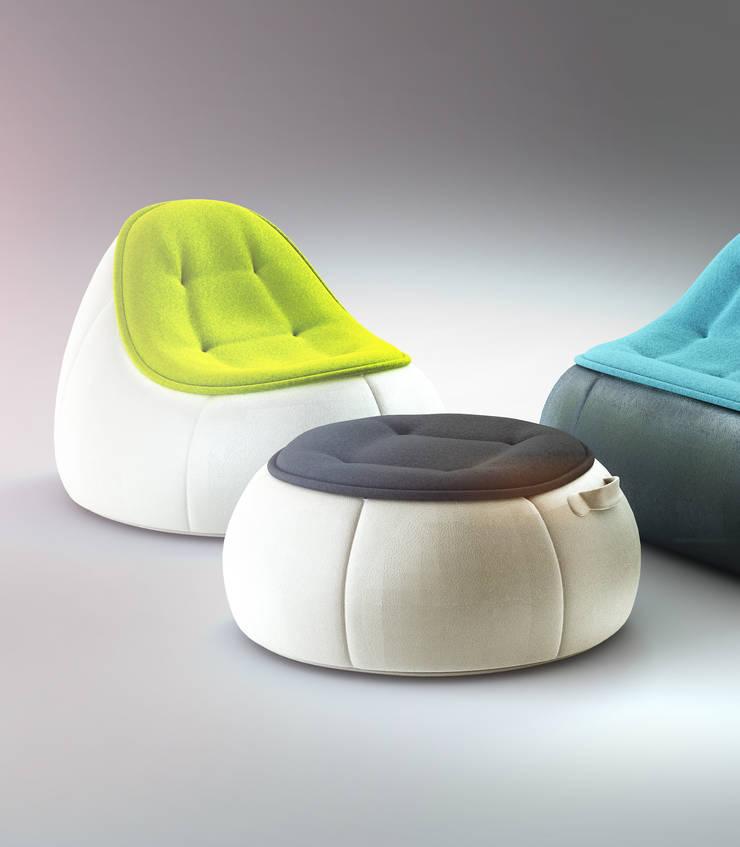 POUF set: styl , w kategorii Salon zaprojektowany przez Redo Design Studio Radosław Nowakowski