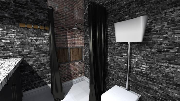 Banheiros industriais por Marika Kafar Autorska Pracownia Projektowa