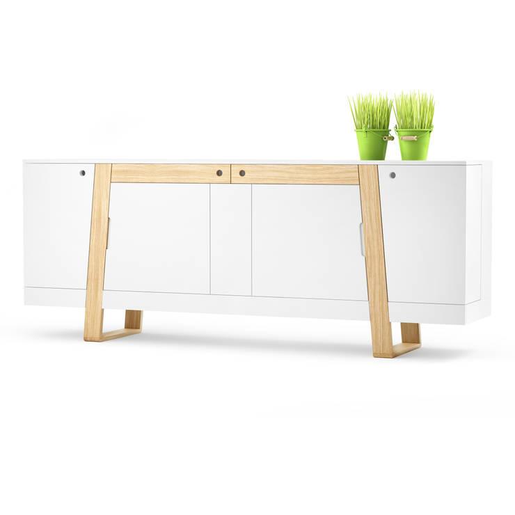 MAGH sideboard large: styl , w kategorii  zaprojektowany przez Redo Design Studio Radosław Nowakowski,Skandynawski