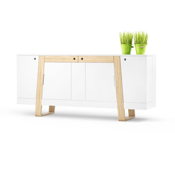 MAGH sideboard medium: styl , w kategorii  zaprojektowany przez Redo Design Studio Radosław Nowakowski,Skandynawski