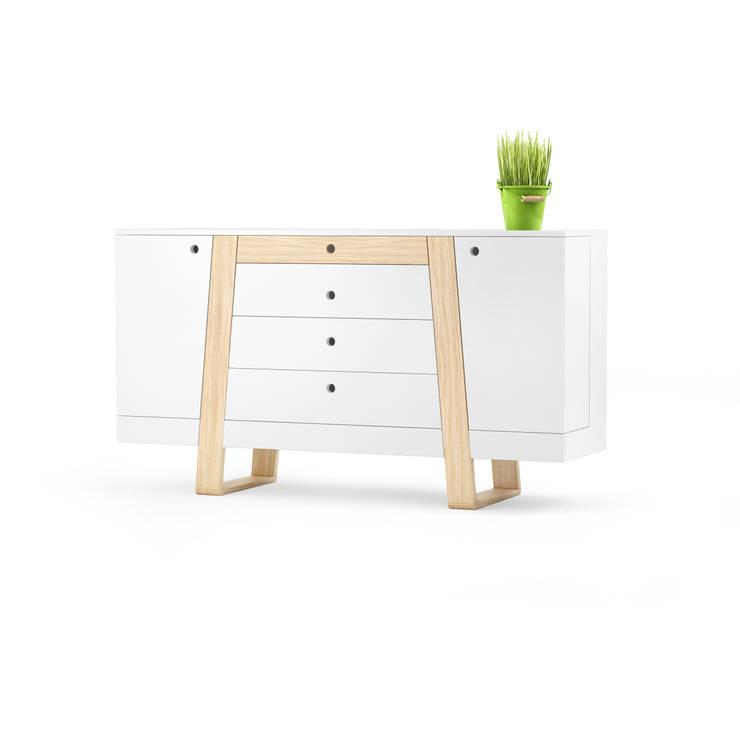MAGH sideboard small: styl , w kategorii  zaprojektowany przez Redo Design Studio Radosław Nowakowski,Skandynawski