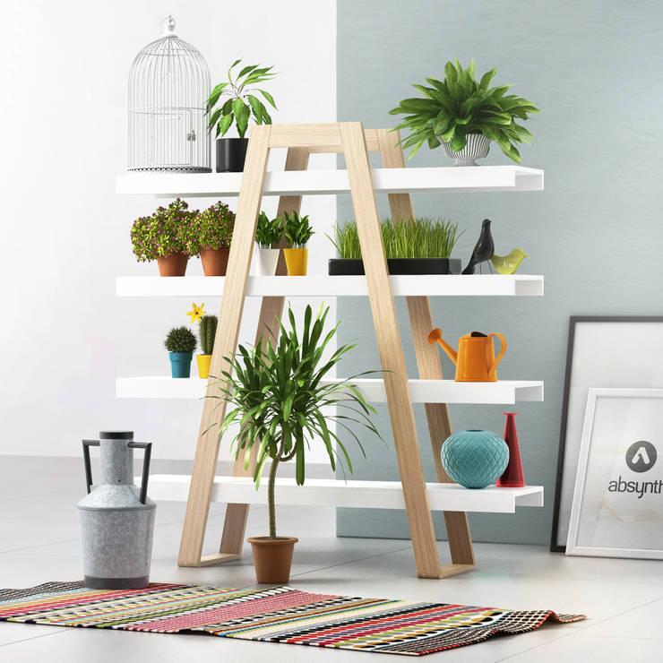 MAGH bookshelf: styl , w kategorii  zaprojektowany przez Redo Design Studio Radosław Nowakowski,Skandynawski