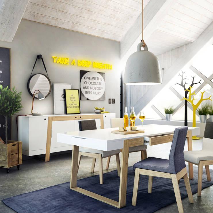 Sala de jantar  por Redo Design Studio Radosław Nowakowski