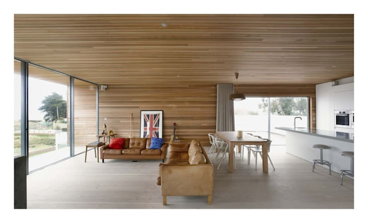 Pooley House: modern Living room by Adam Knibb Architects