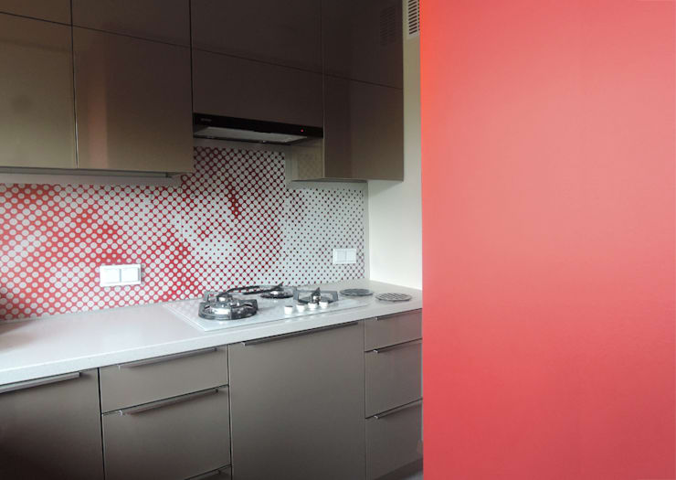 Mieszkanie prywatne Sosnowiec: styl , w kategorii Kuchnia zaprojektowany przez Projektowanie Wnętrz Agnieszka Noworzyń,
