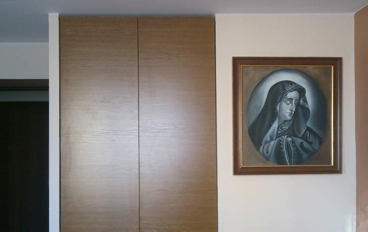 Mieszkanie prywatne Sosnowiec: styl , w kategorii Sypialnia zaprojektowany przez Projektowanie Wnętrz Agnieszka Noworzyń,