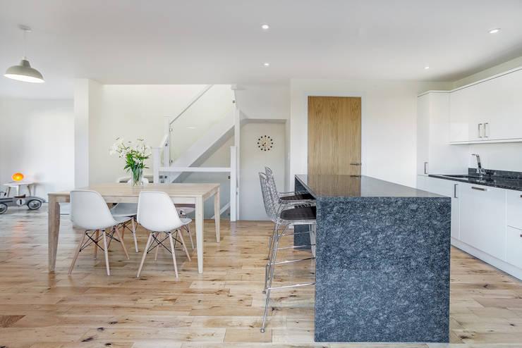 The Cedar Lodges: modern Kitchen by Adam Knibb Architects