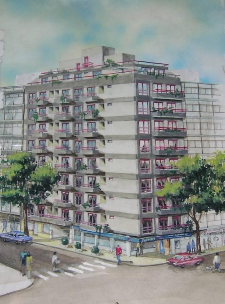 Edificio calle Laprida: Casas de estilo moderno por Villazala-Elias Arquitectos
