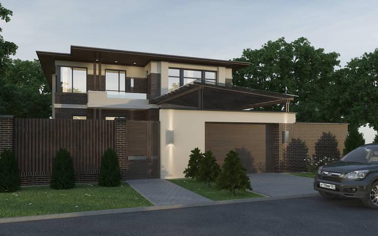 Вид на дом с улицы: Дома в . Автор – studio forma,