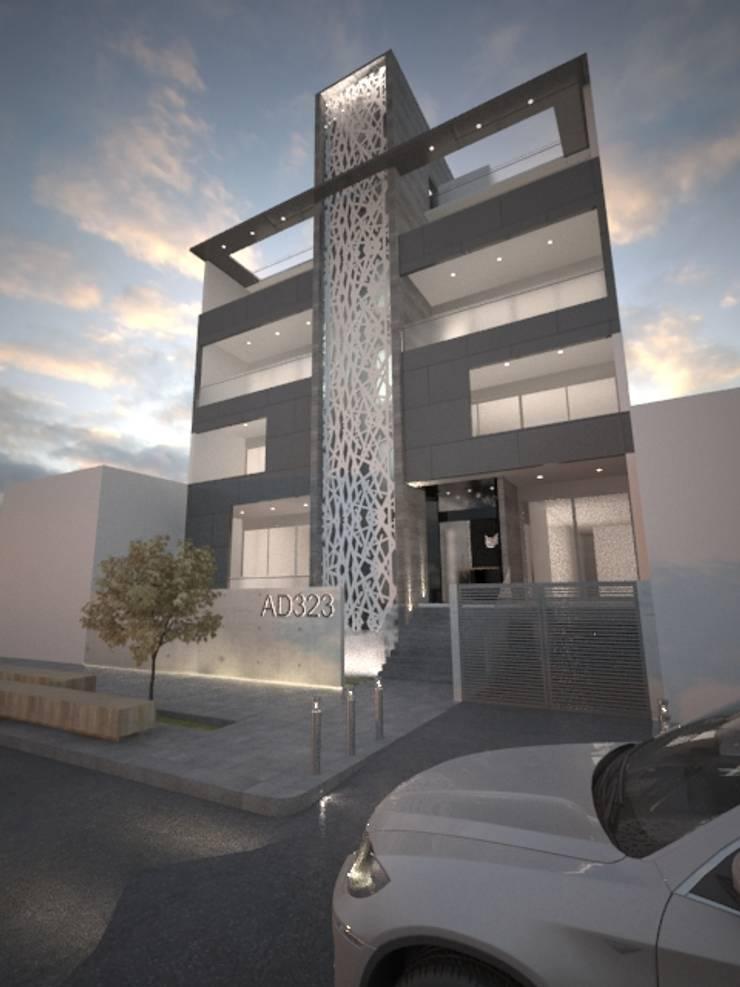 Residencial Dumas:  de estilo  por Adir Arquitectos