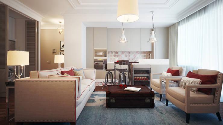 Квартира Skandi Klubb: Столовые комнаты в . Автор – KYD BURO