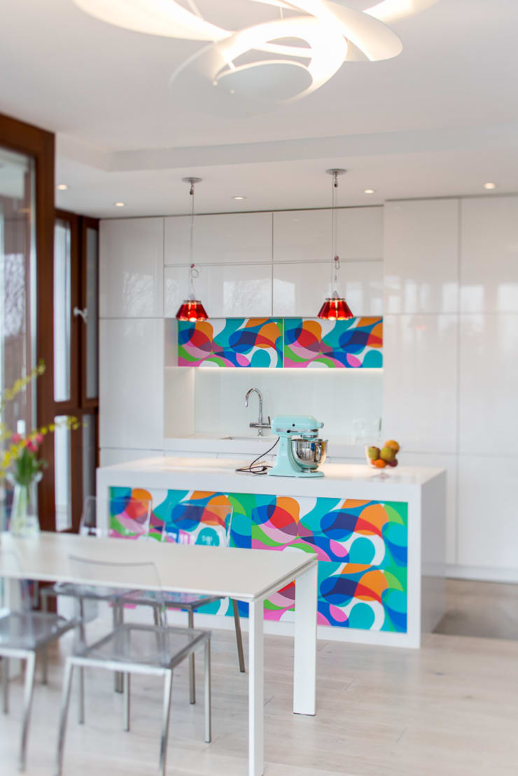 Apartament na Chodkiewicza: styl , w kategorii Kuchnia zaprojektowany przez MATELIER