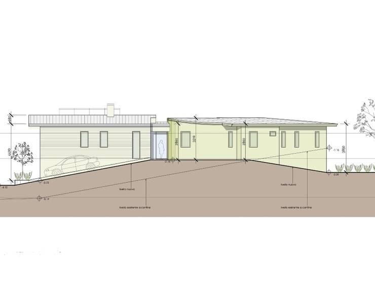 Progetto di Casa ad alta efficienza energetica: Case in stile in stile Moderno di Studio Architetti Cornacchini - De Boni