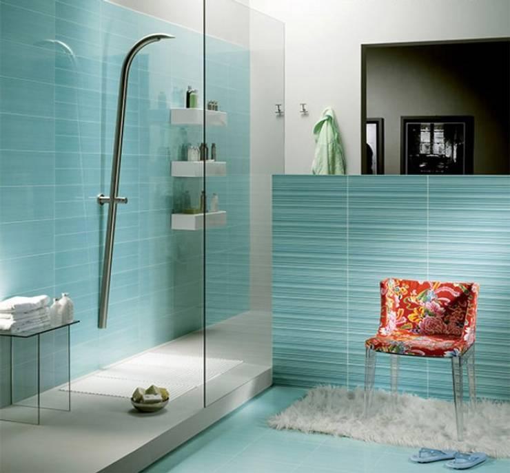 AKDENİZ TADİLAT DEKORASYON – SERAMİK: akdeniz tarzı tarz Banyo