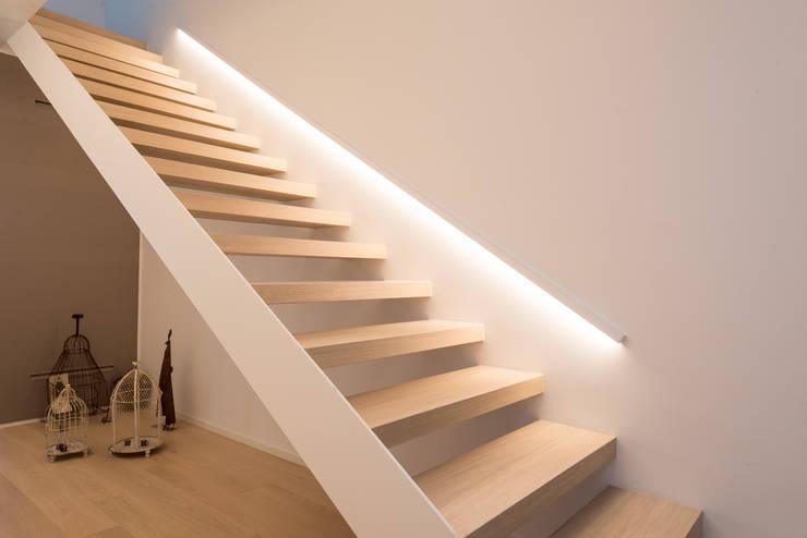 Couloir, entrée, escaliers de style de style Moderne par Biohaus