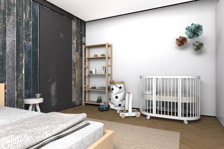 Комната для молодой семьи. Уголок для малыша.: Спальни в . Автор – ИНТЕРЬЕР-ПРОЕКТ.РУ