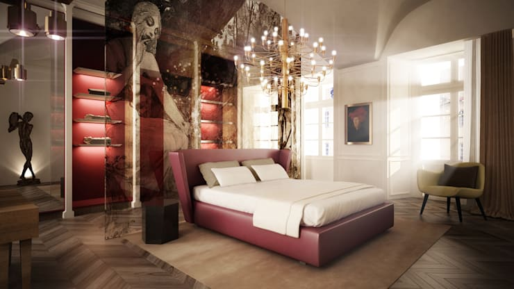 suite bedroom:  in stile  di OPEN PROJECT