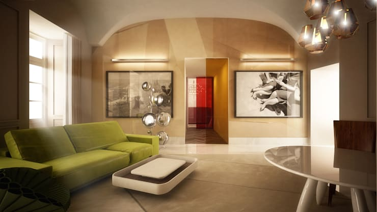 suite living:  in stile  di OPEN PROJECT