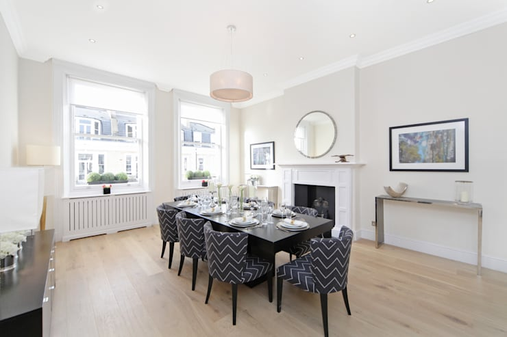 City appartment:  Dining room by Hampstead Design Hub