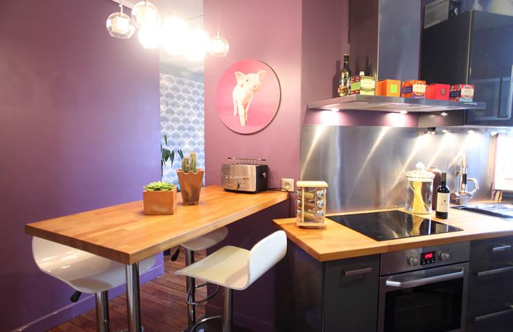 Cuisine ouverte: Cuisine de style de style eclectique par Sandra Dages