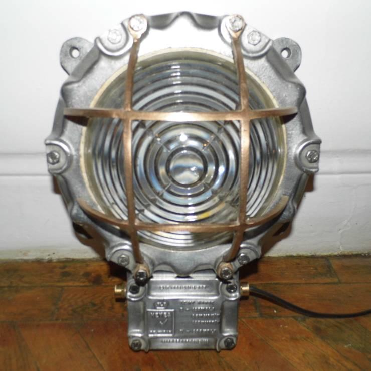 Vintage Bulkhead Lamp:  Living room by Travers Antiques