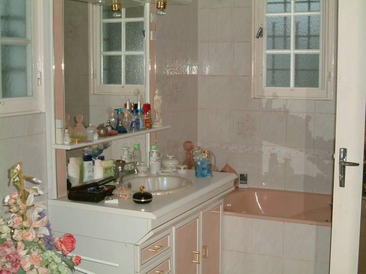 Suite parentale: avant: Salle de bains de style  par DK2DECO