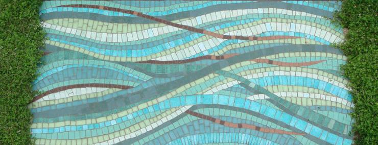 Mosaique Extérieure: Jardin de style de style Moderne par Lechevallier stephanie