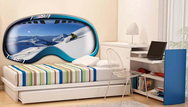 Cabecero fotografico: Dormitorios de estilo  de Tapi Sueños