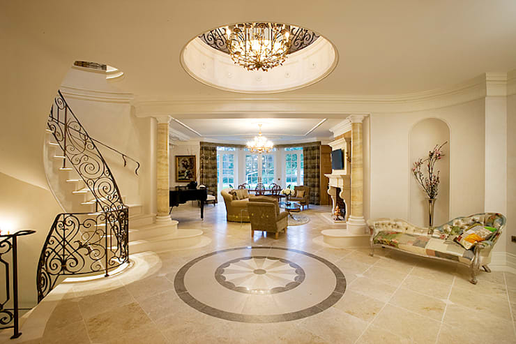 Entrance Hall:  Houses by Christopher Cook Designs Limited