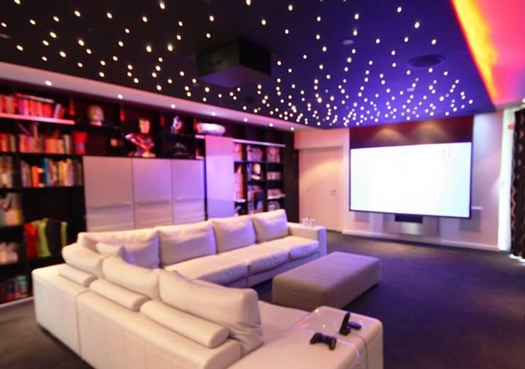 Home Cinema:  Media room by Inspire Audio Visual