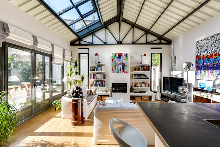 Projekty,  Salon zaprojektowane przez Meero