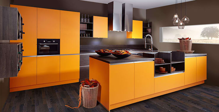 Color orange:  de style  par Schott Cuisines