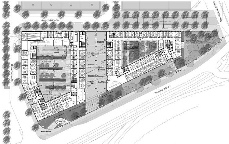 Lageplan:  Bürogebäude von grabner huber lipp landschaftsarchitekten partnerschaft,
