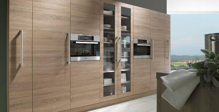 Porto Woodline - Chene Bardolino:  de style  par Schott Cuisines
