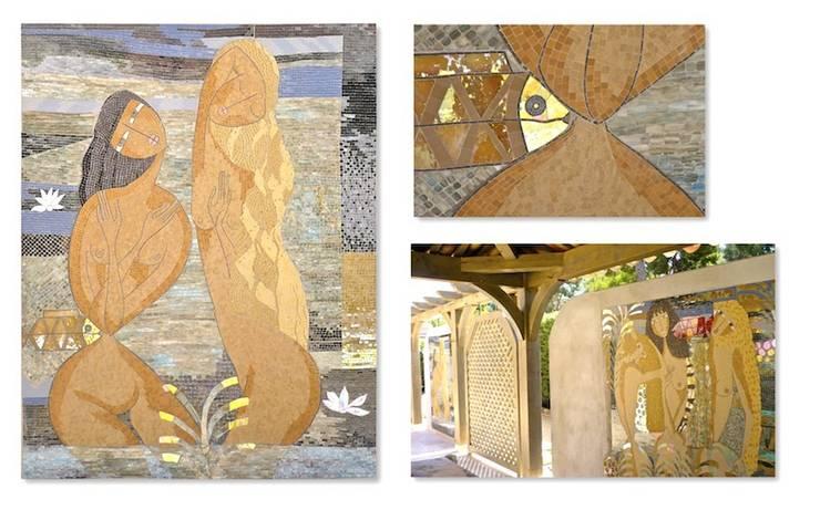 Les 2 naïades: Couloir, entrée, escaliers de style  par L-Mosaïque