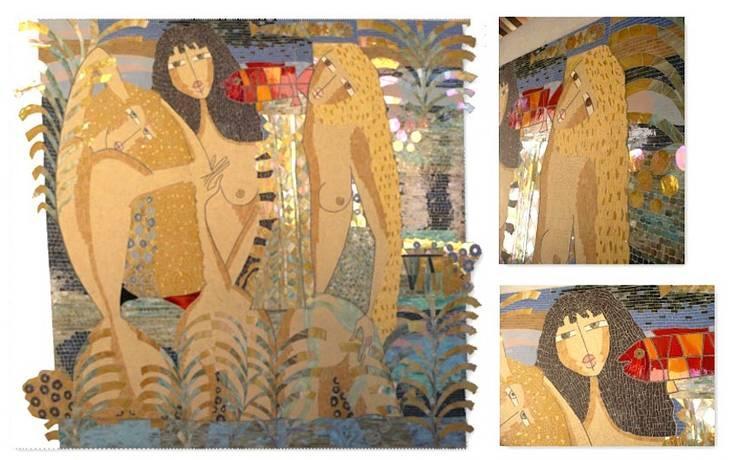 Les 3 naïades: Couloir, entrée, escaliers de style  par L-Mosaïque