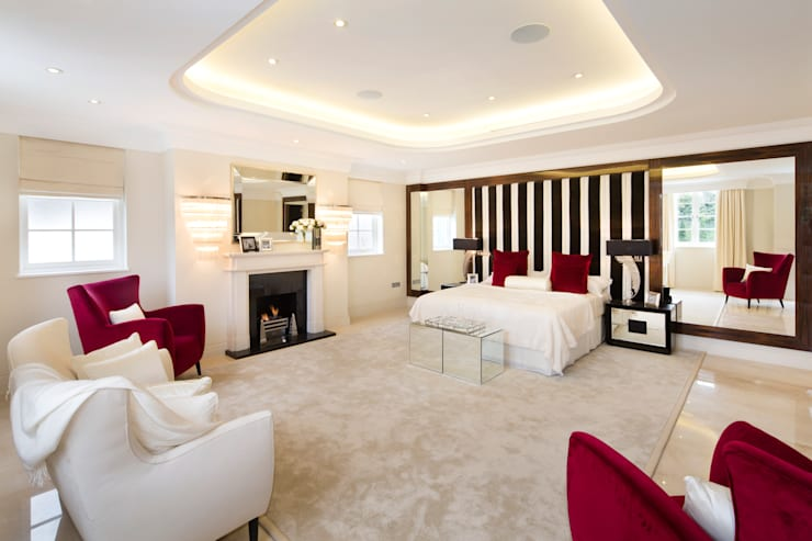 Chambre de style  par Celia Sawyer Luxury Interiors