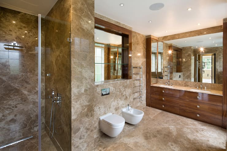 Fairways at the Bishops Avenue:  Bathroom by Celia Sawyer Luxury Interiors
